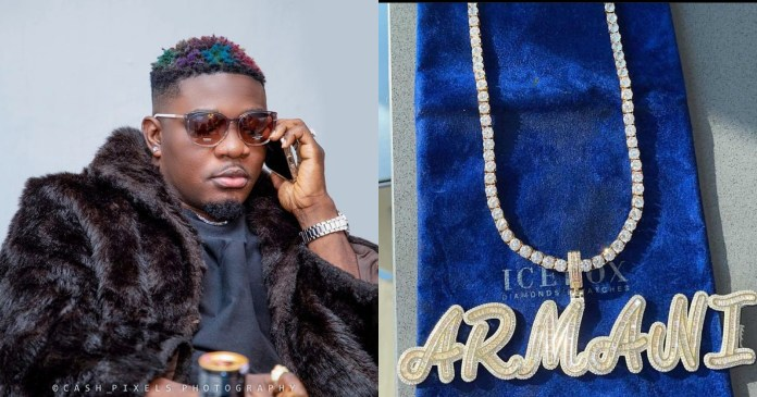 Money Is Talking – AMG Rapper Armani, Gets Himself A $43,000 Ice Box Customized Necklace