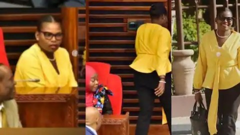 Female MP forced out of parliament for wearing tight trousers after male colleague's protest [Video]