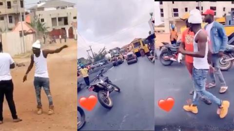 """""""Stop the work"""" – Shatta Wale goes mad at road constructors for failing to construct road he had paid GH¢4M for on time[Video]"""