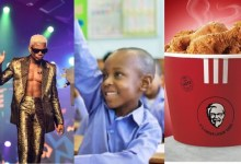 """Photo of School boy gets free food from KFC, free performance from Kidi and other gifts after his tall """"our day"""" list went viral on Twitter"""