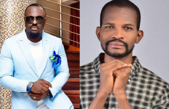 Uche Maduagwu Allegedly Hospitalized After Jim Iyke Landed Heavy Punches On His Face