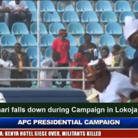 [VIDEO] #Buhari falls down during #Campaign in #Lokoja, #Kogi State