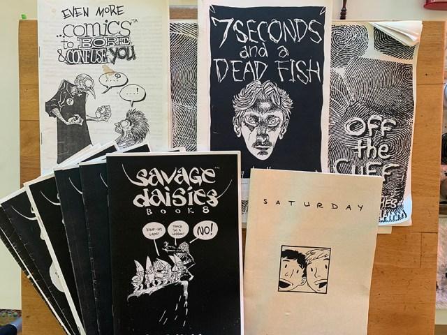 Photo of mini comics by Jesse Hamm