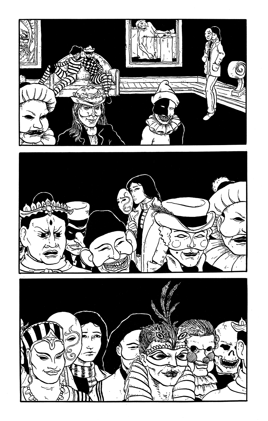 Page 5 of the comics story Kit Kaleidoscope Goes to the Masked Ball