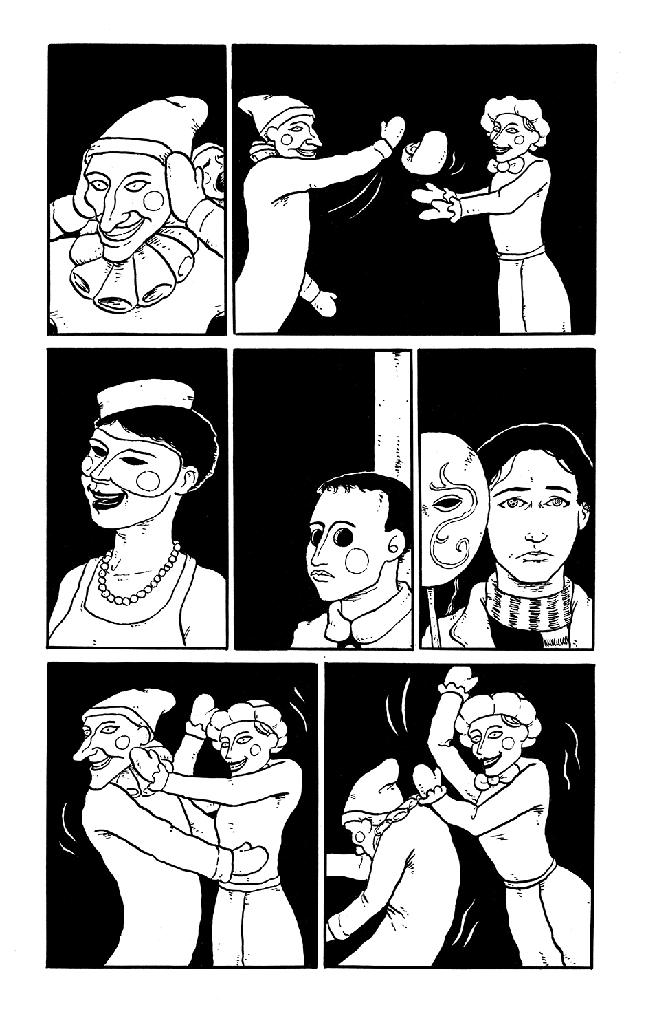 Page 8 of the comics story Kit Kaleidoscope Goes to the Masked Ball