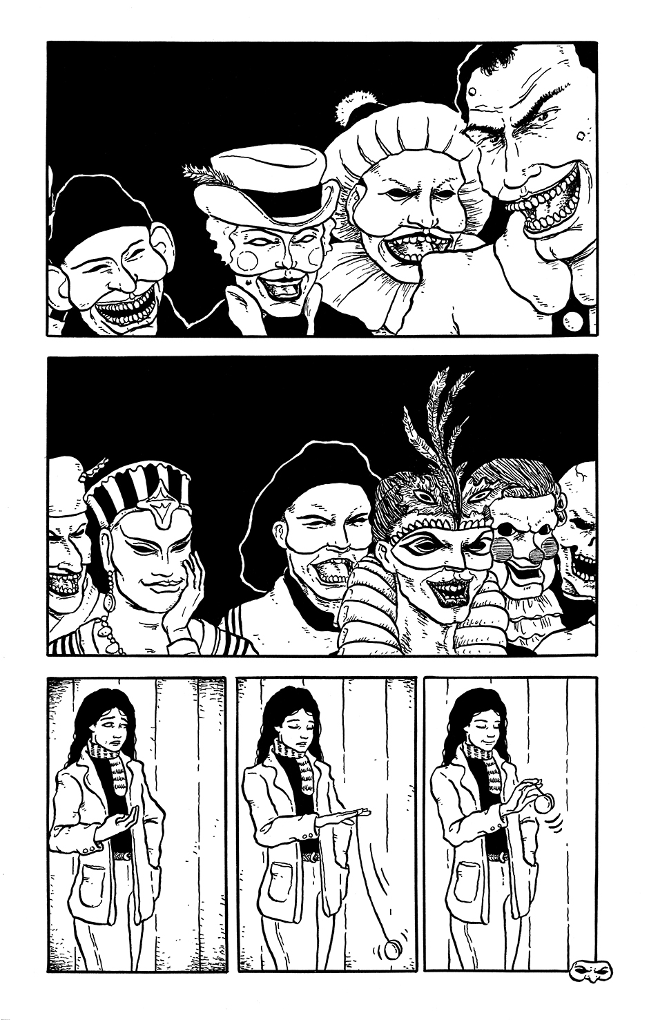 Page 13 of the comics story Kit Kaleidoscope Goes to the Masked Ball
