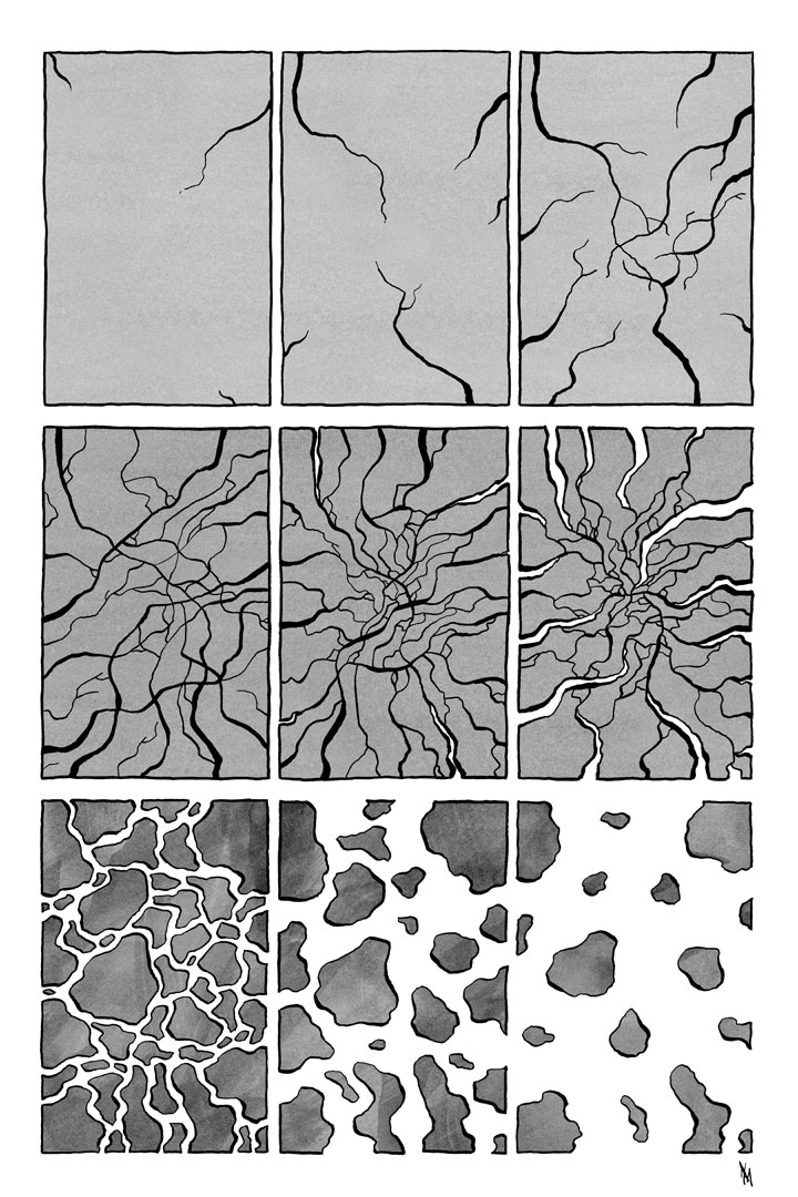 Progression 4 abstract comic