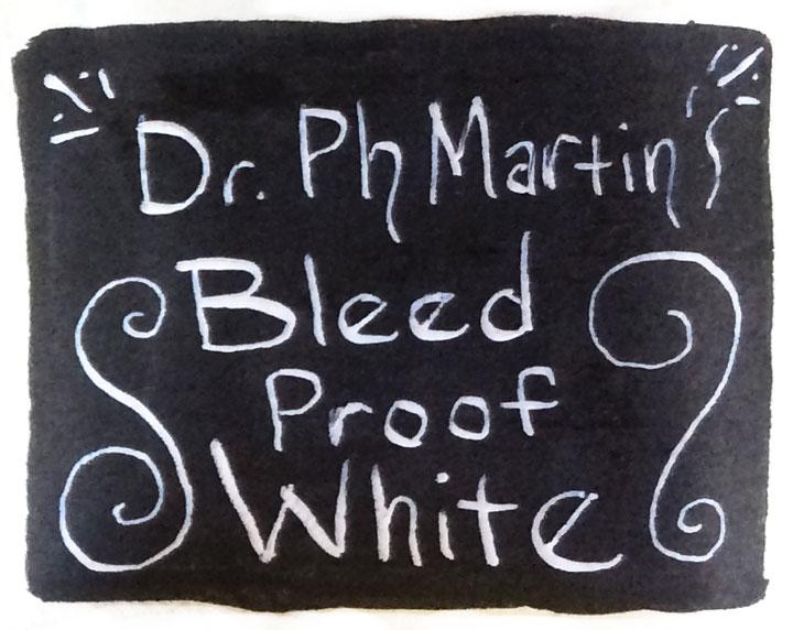 Dr Ph Martin's Bleed Proof White sample