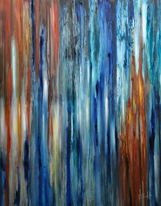 Contemporary Abstract Painting - Rain
