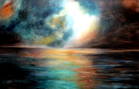 large abstract sea painting