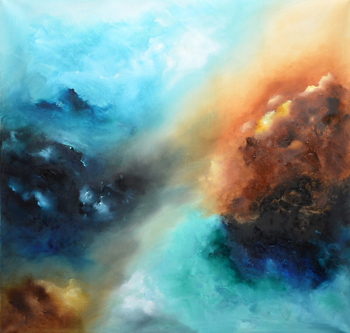 abstract sky painting