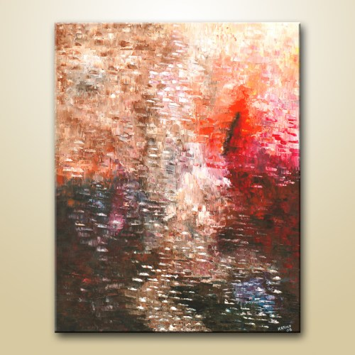 abstract art palette knife