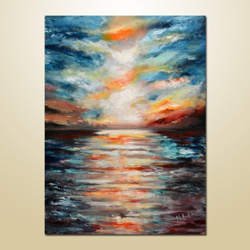 abstract seascape painting
