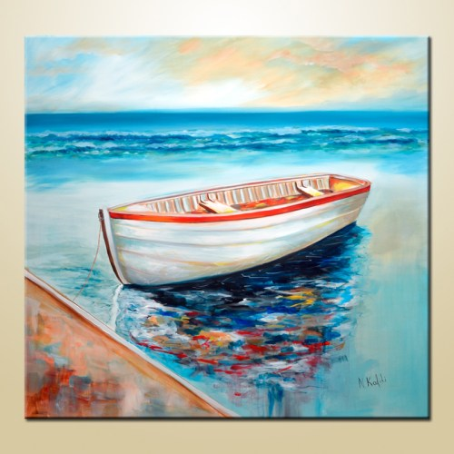 boat art print canvas