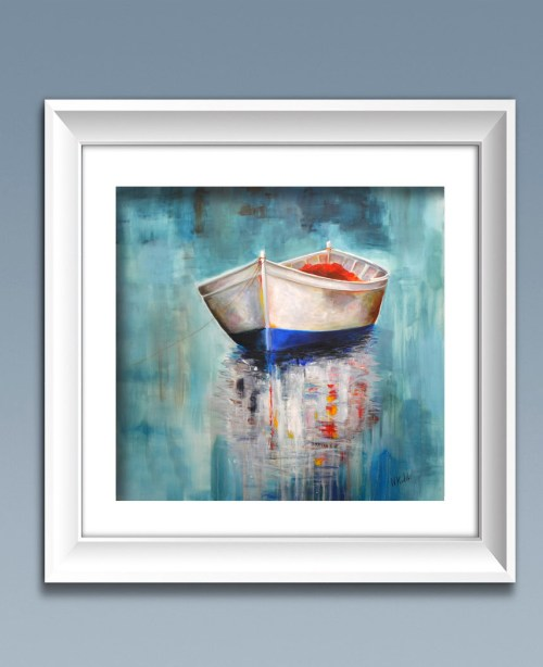 boat painting-fine art print
