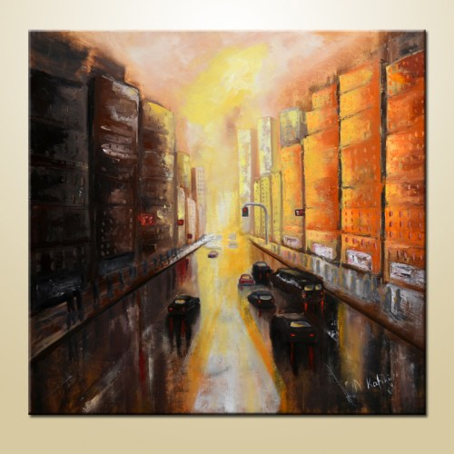 abstract new york city painting