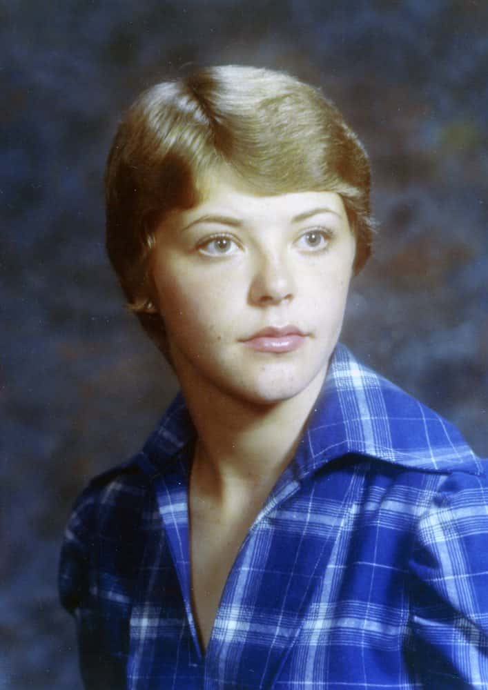 Lori DeMoe's high school graduation photo.
