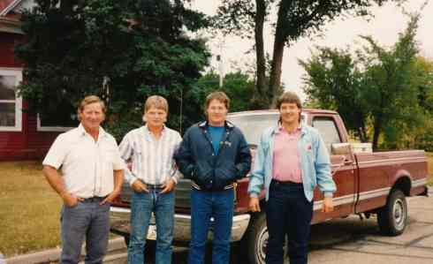 The DeMoe brothers, left to right: Brian, Jamie, Doug, and Dean.