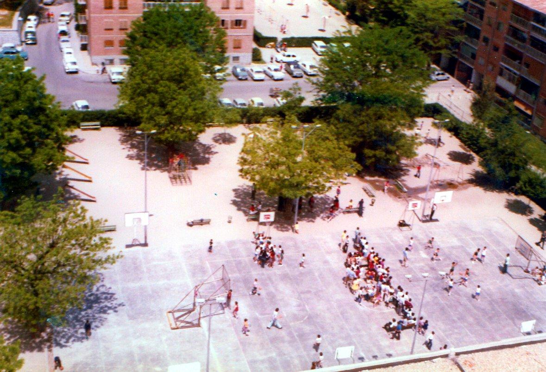 El Parque en el campeonato de Minibasket de 1972. La foto es del Olímpico 64.