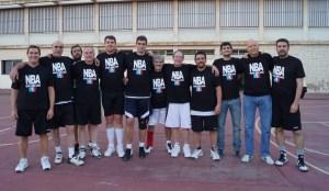 Torneo de San Antonio. Nicolás, Pedro, Ángel, Luis, Jorge, Jaime, Rafa, Paco de la Torre, Alejandro, Dani, Carlos y Joseli.