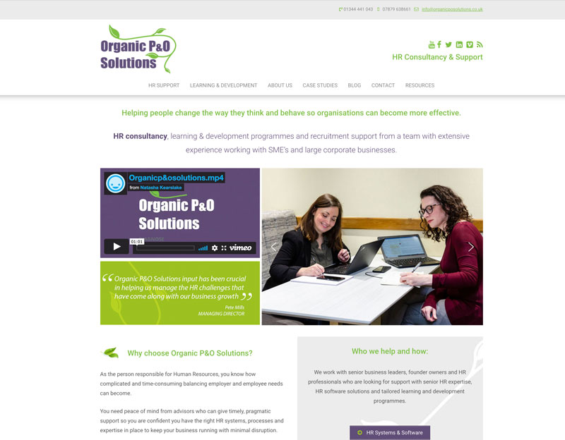 Organic P&O Solutions