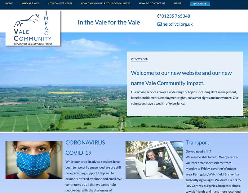 New website for Vale Community Impact