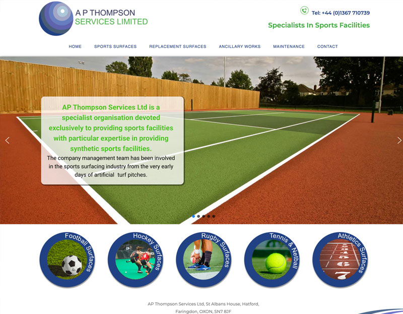 New website for AP Thompson Services Ltd