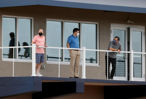 Cashman GM and other leaders watching over the practice