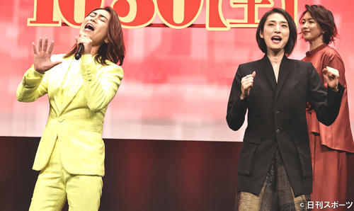 氷川きよし初の映画主題歌を熱唱「きよしちゃんだ!」と天海祐希ら生ダンス