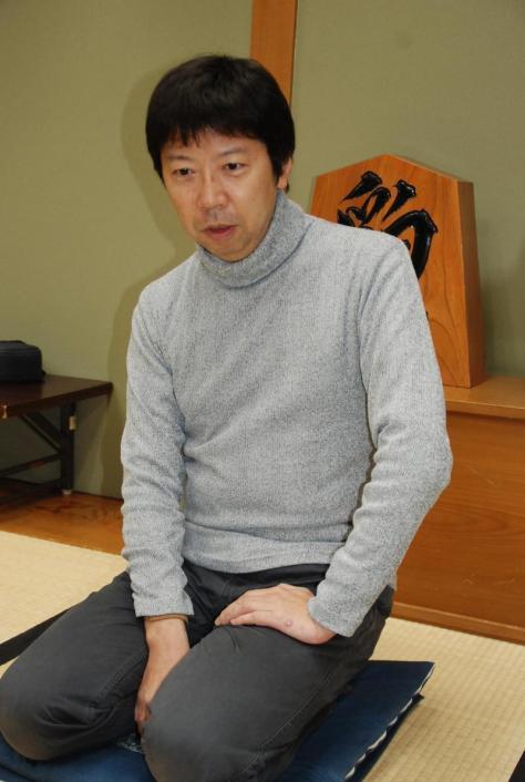 師匠の杉本昌隆七段(2018年2月5日撮影)