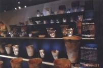 三内丸山遺跡で出土した土器の展示