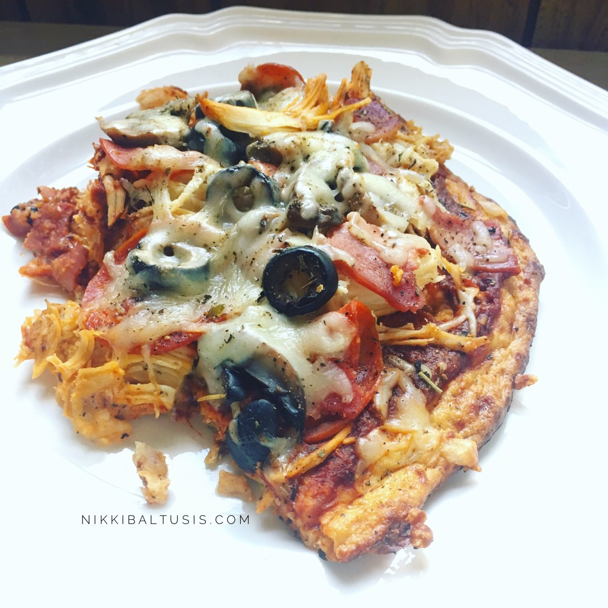 Homemade High Protein, Low Carb, Low Fat Pizza Recipe