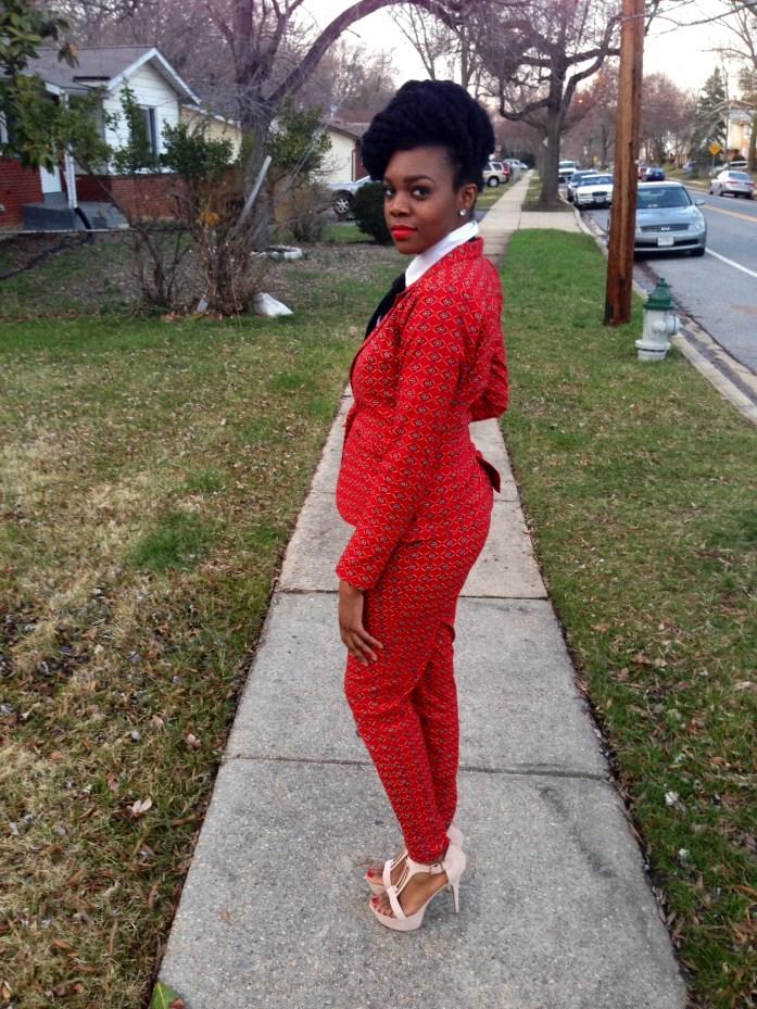 Red Ankara Suit & Tie 9