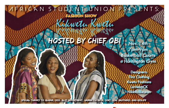 Colgate University African Student Union present Fashion Show