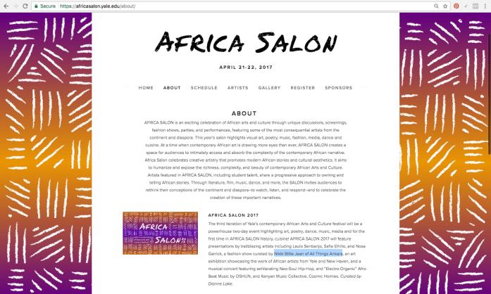 Nikki Billie Jean Featured Artist at Africa Salon 2017 2