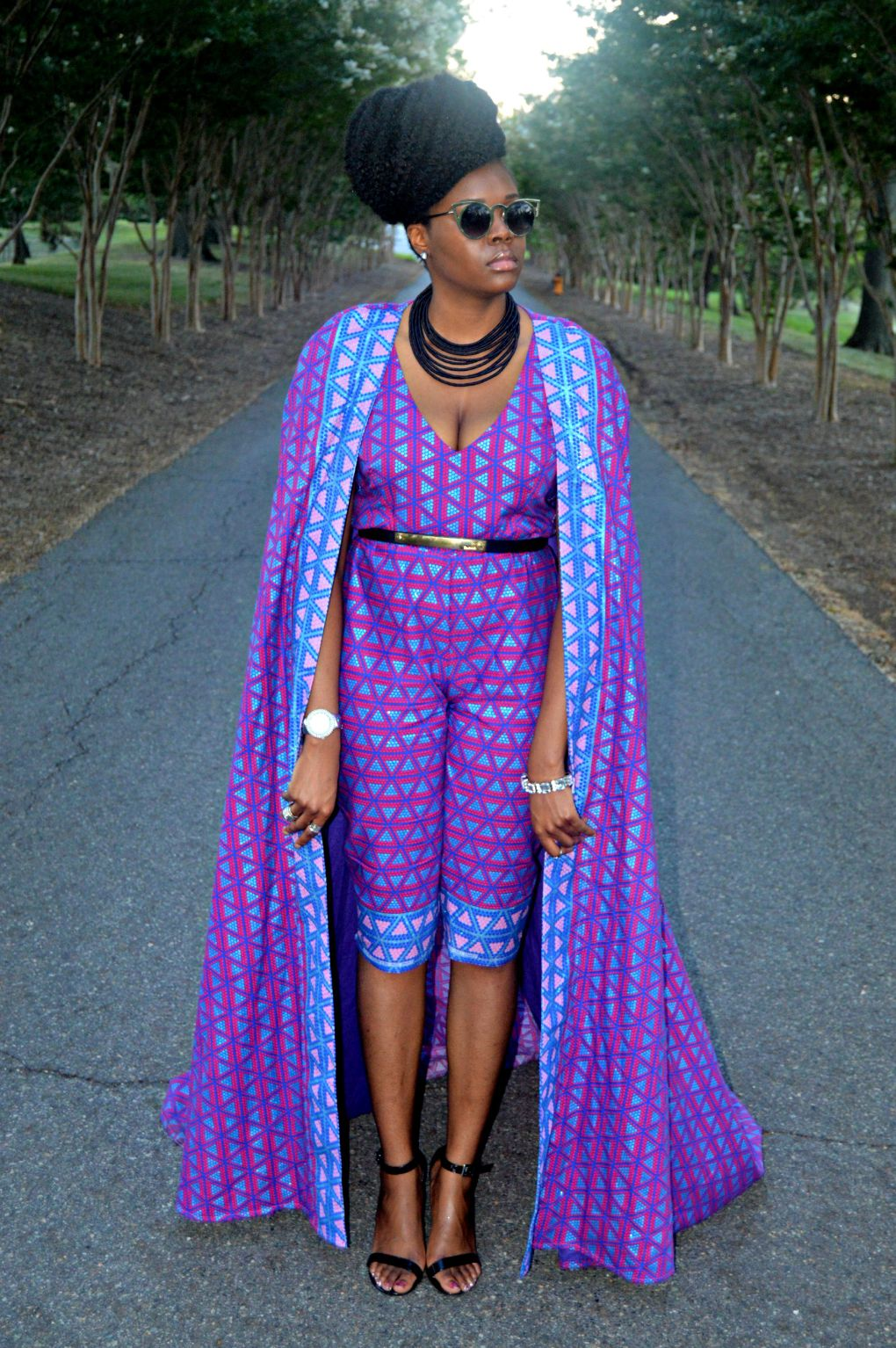 Ankara Print Cape & Capri Jumpsuit for All Things Ankara Fashion Week 2015 6