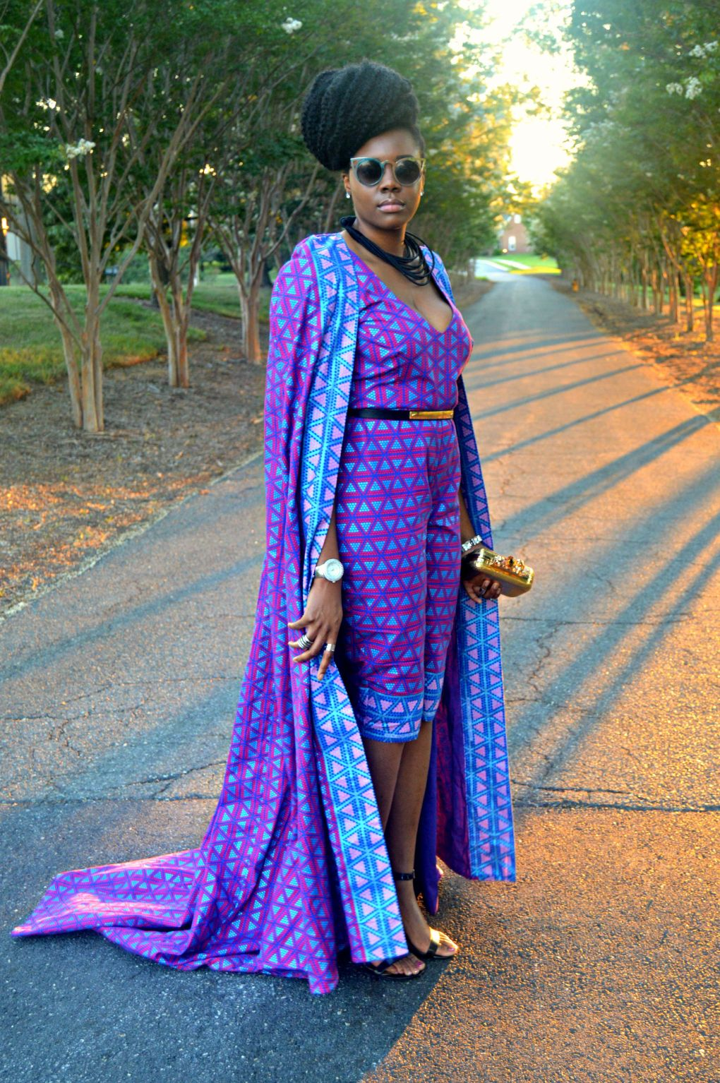 Ankara Print Cape & Capri Jumpsuit for All Things Ankara Fashion Week 2015 7
