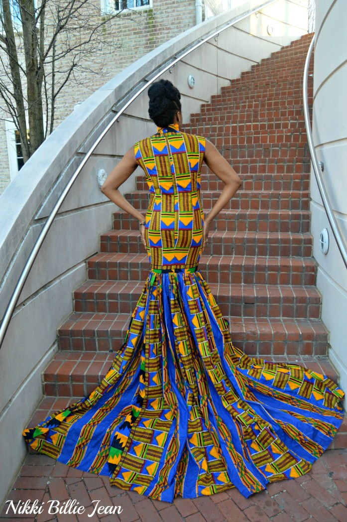 Nikki Billie Jean's Mixed Kente Print Gown for the Exquisite Ghana Independence Ball 2016 9