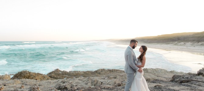 NORTH STRADBROKE ISLAND WEDDING PHOTOGRAPHY – SOUTH GORGE BEACH POINT LOOKOUT – ERIN + AMBROSE – SNEAK PEEKS