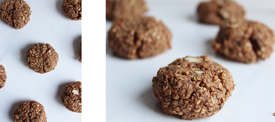 Chocolate Coconut Macaroon Cookie - Vegan and gluten free. These cookies make a delicious nut free snack - www.nikkisplate.com