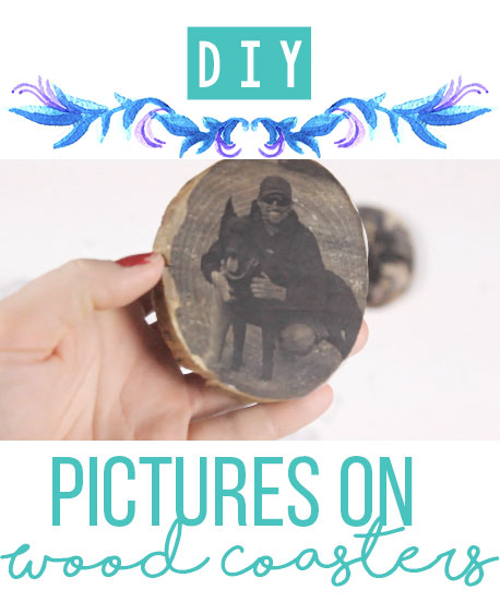 DIY Pictures on Wood Coasters - www.nikkisplate.com