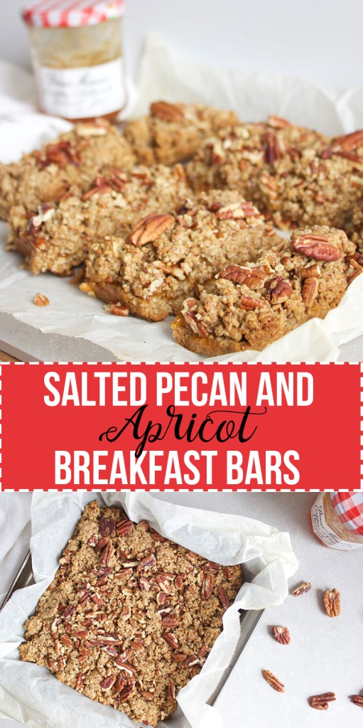 Salted Pecan and Apricot Breakfast Bars - Perfect Mothers Day Breakfast! #sayitwithhomemade @bonnemamanus www.nikkisplate.com