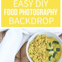 Easy DIY Food Photography Backdrop