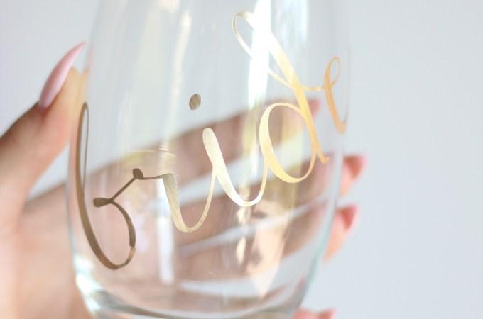DIY Bride Decal Glass