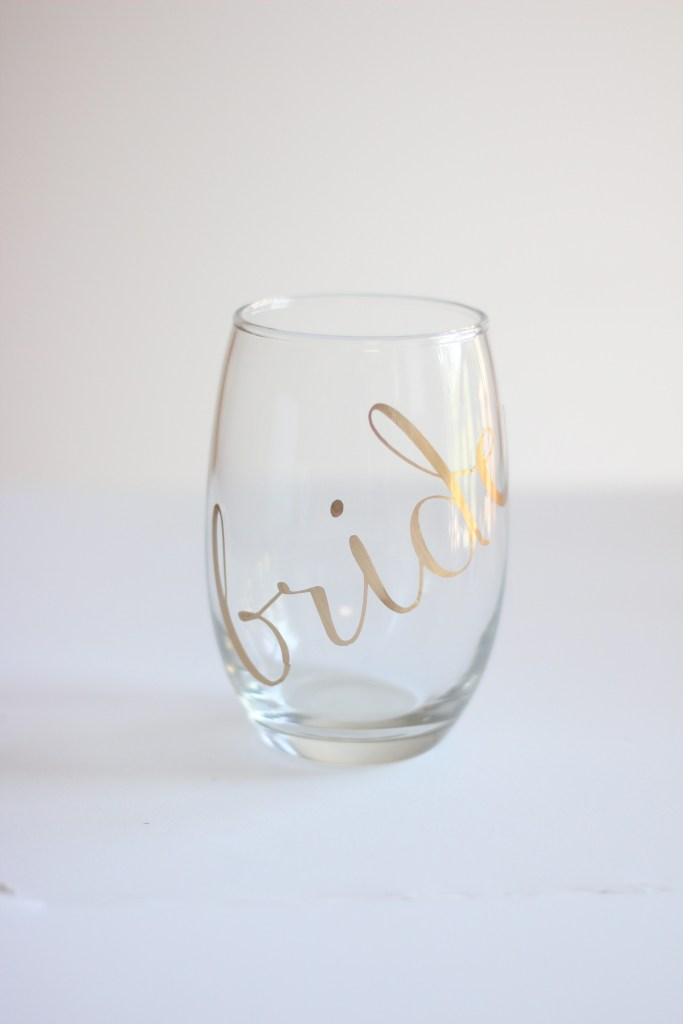 DIY Bride Decal Glass