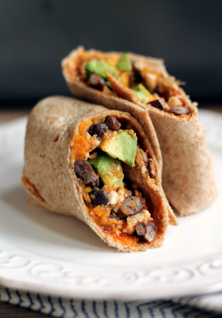 This sweet potato and black bean breakfast burrito is a healthy, flavorful breakfast option that's packed with nutrients