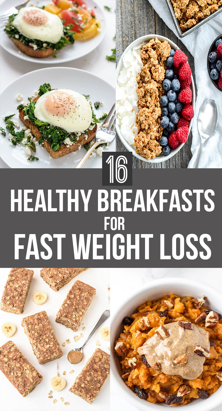 16 healthy breakfasts for FAST weight loss! Here are some of the healthiest recipes to help you burn fat and lose that weight fast. Lets get our bikini bodies ready to go my beauties! || Nikki's Plate www.nikkisplate.com