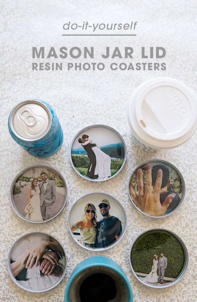 These mason jar lid coasters are the perfect customized gift to give to family and friends