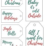Free Printable Christmas Gift Tags    Add a cute name tag to your xmas presents this holiday season! #christmaspresents #christmasgifttags #freeprintables