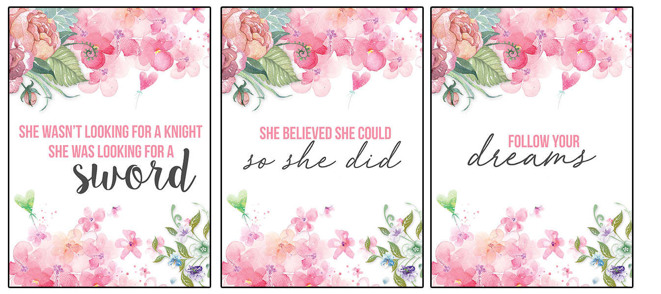 13 Free Printable Flower Wall Art Quotes - Nikki\'s Plate